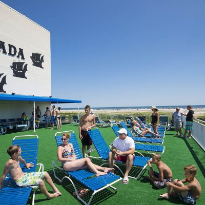 Guests on sundeck at Armada by the Sea in Wildwood NJ