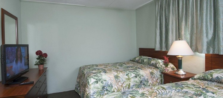 Armada by the Sea two double beds in bedroom in two-room ocean view hotel suite in Wildwood NJ
