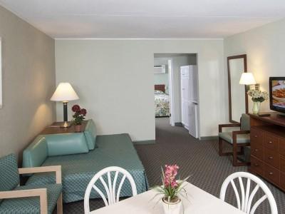 Armada by the Sea living room in ocean view two-room hotel suite in Wildwood NJ