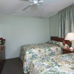 Armada by the Sea two double beds in bedroom in ocean view two-room hotel suite in Wildwood NJ
