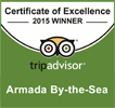Armada by the Sea's Trip Advisor Certificate of Excellence 2015 Winner award