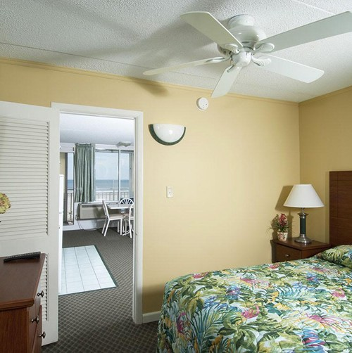 Armada by the Sea bedroom in oceanfront two-room kitchen suite in Wildwood NJ
