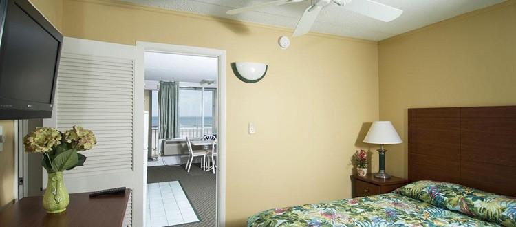 Armada by the Sea bedroom in oceanfront two-room kitchen suite in Wildwood NJ