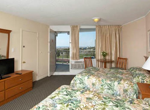 Armada By the Sea two double-beds in oceanfront motel room in Wildwood NJ