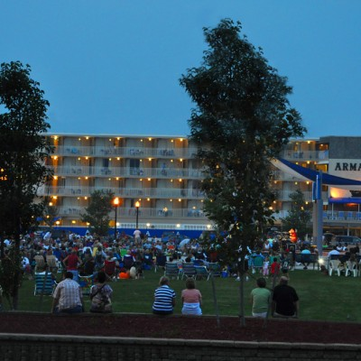 Concert at Centennial park in Wildwood NJ by Armada by the Sea