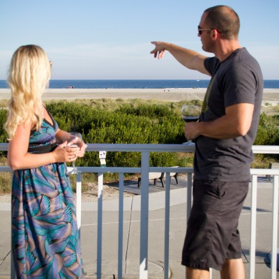 Guests looking over ocean at Armada by the Sea in Wildwood NJ