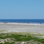 Oceanfront view from Armada by the Sea beachfront hotel in Wildwood NJ