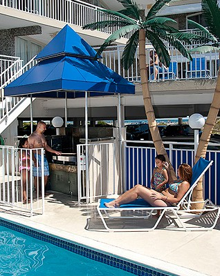 Armada by the Sea poolside grill and guests in Wildwood NJ