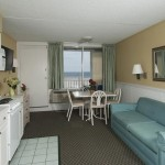 Armada by the Sea living room in oceanfront two room suite for couples and small families in Wildwood NJ